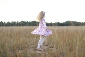 Twirling dress