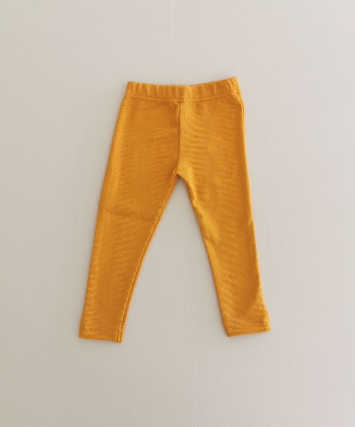 Mustard Ribbed Leggings