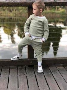 Gorgeous boy wearing Sage jumper