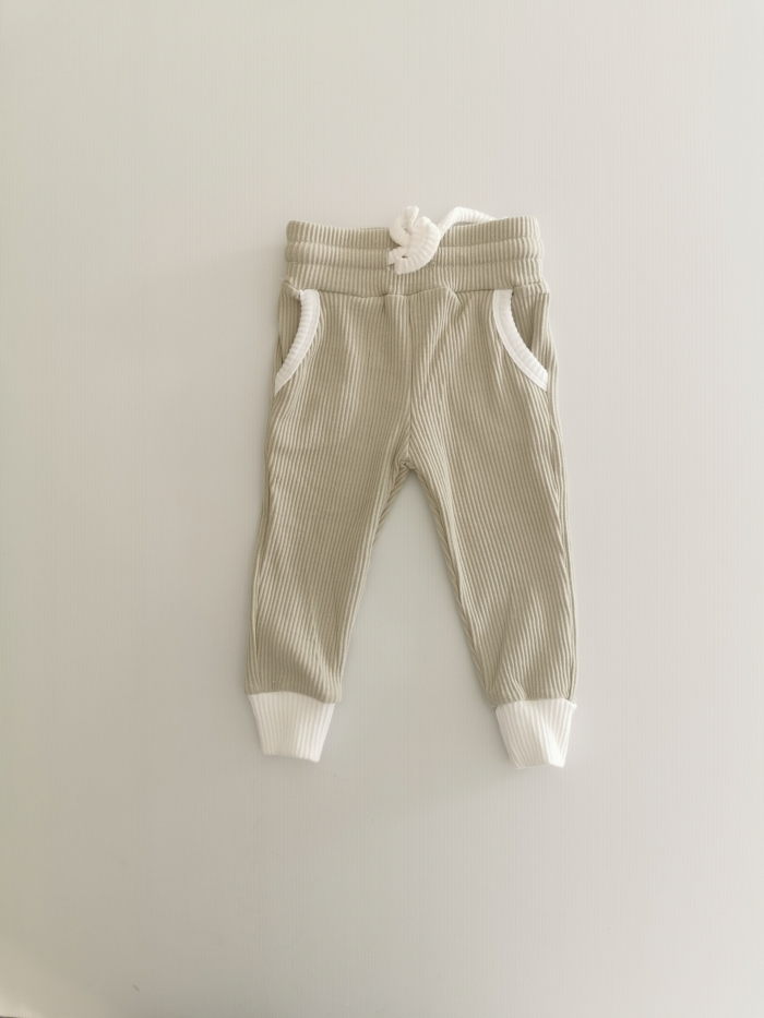 Sage Ribbed Lounge Pants