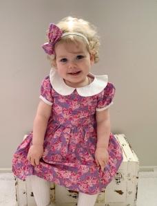 Cute girl wearing collar dress