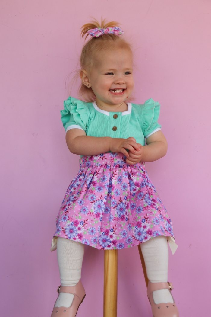 Audrey detachable suspender skirt for girls 4