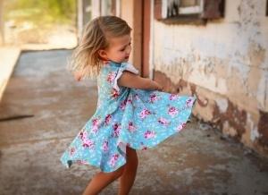 Twirling in twirl dress