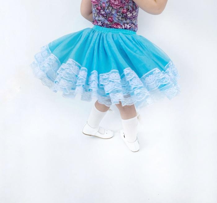 Deep sky blue tutu skirt