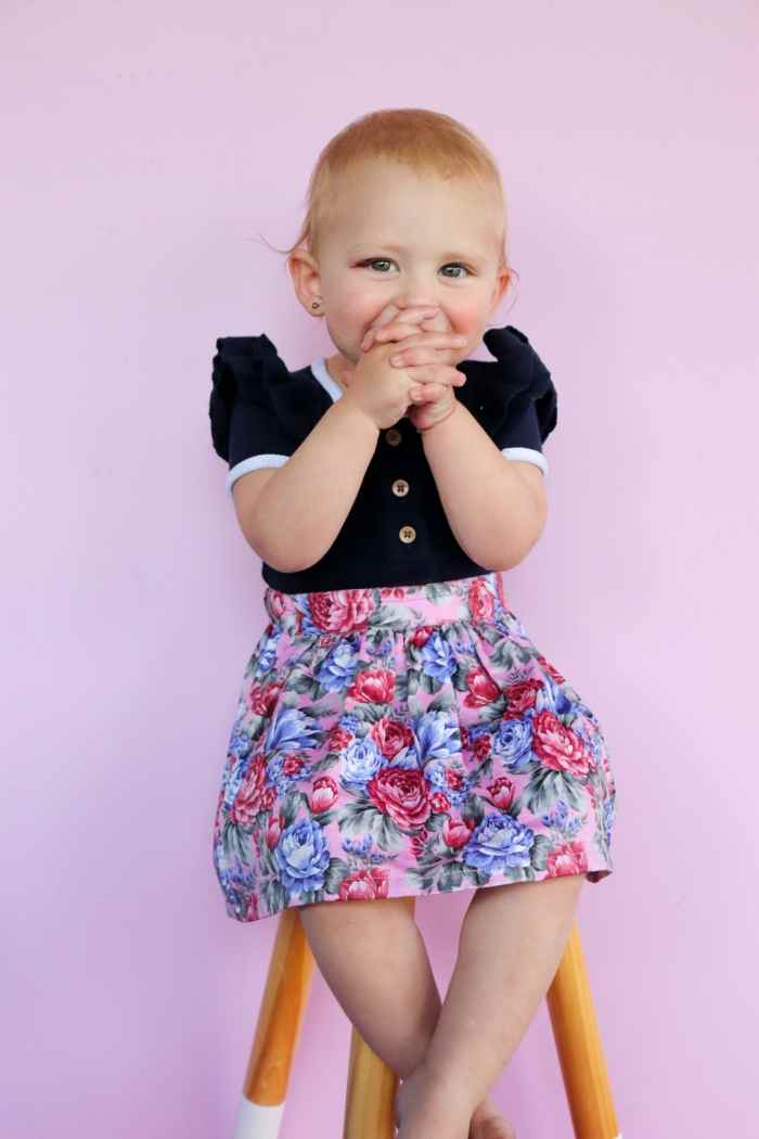 Maddy detachable suspender skirt