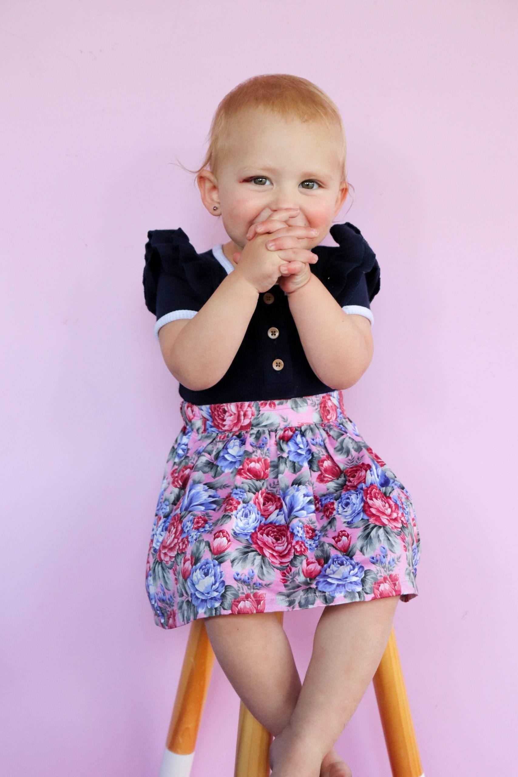 cute girl wearing gogeous skirt