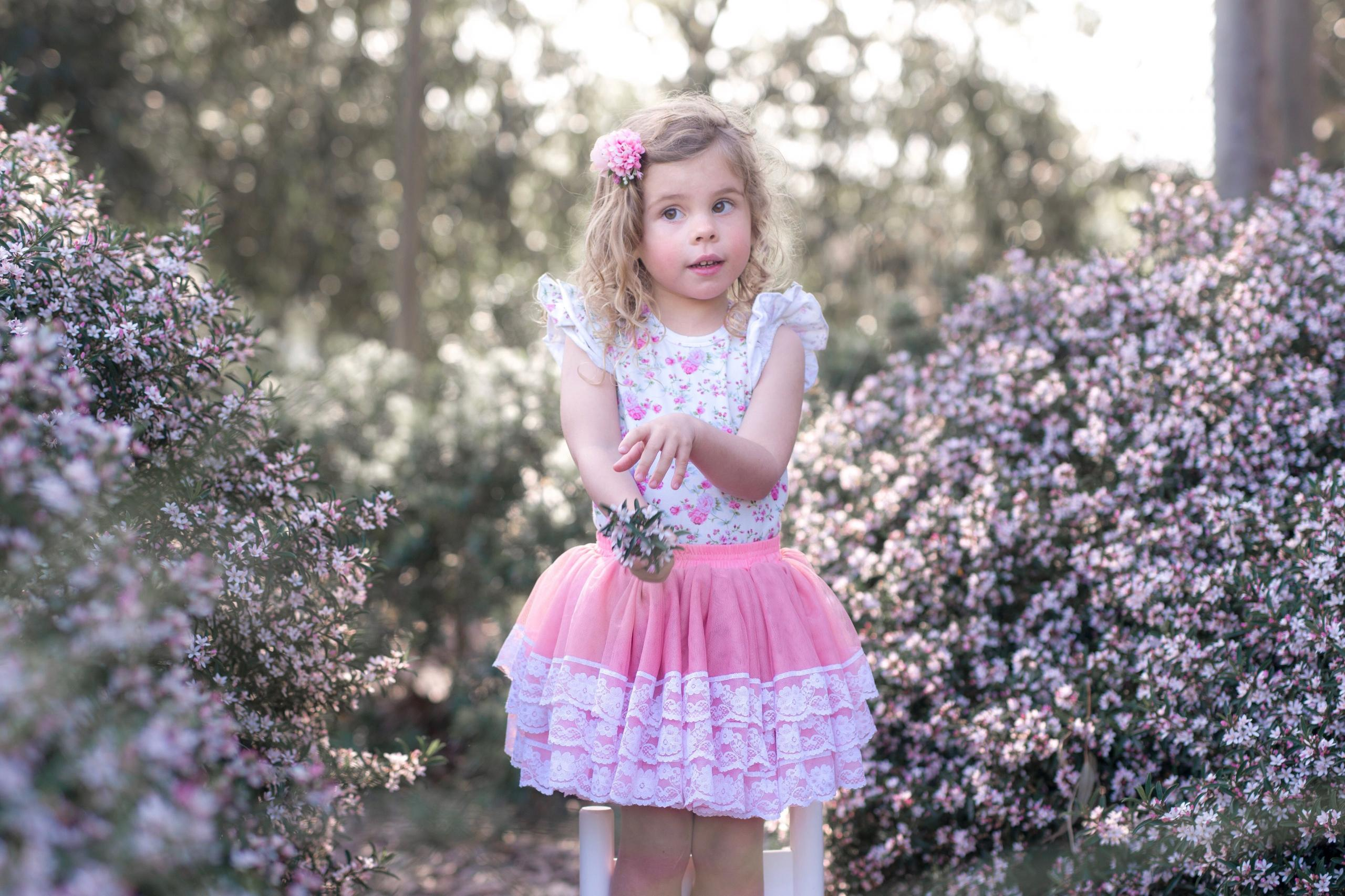 Cute girl wearing tutu skirt