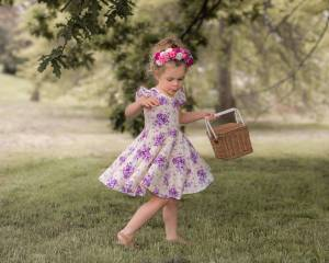 Goregeous girl in twirly dress