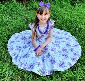 Cute girl wearing twirly dress