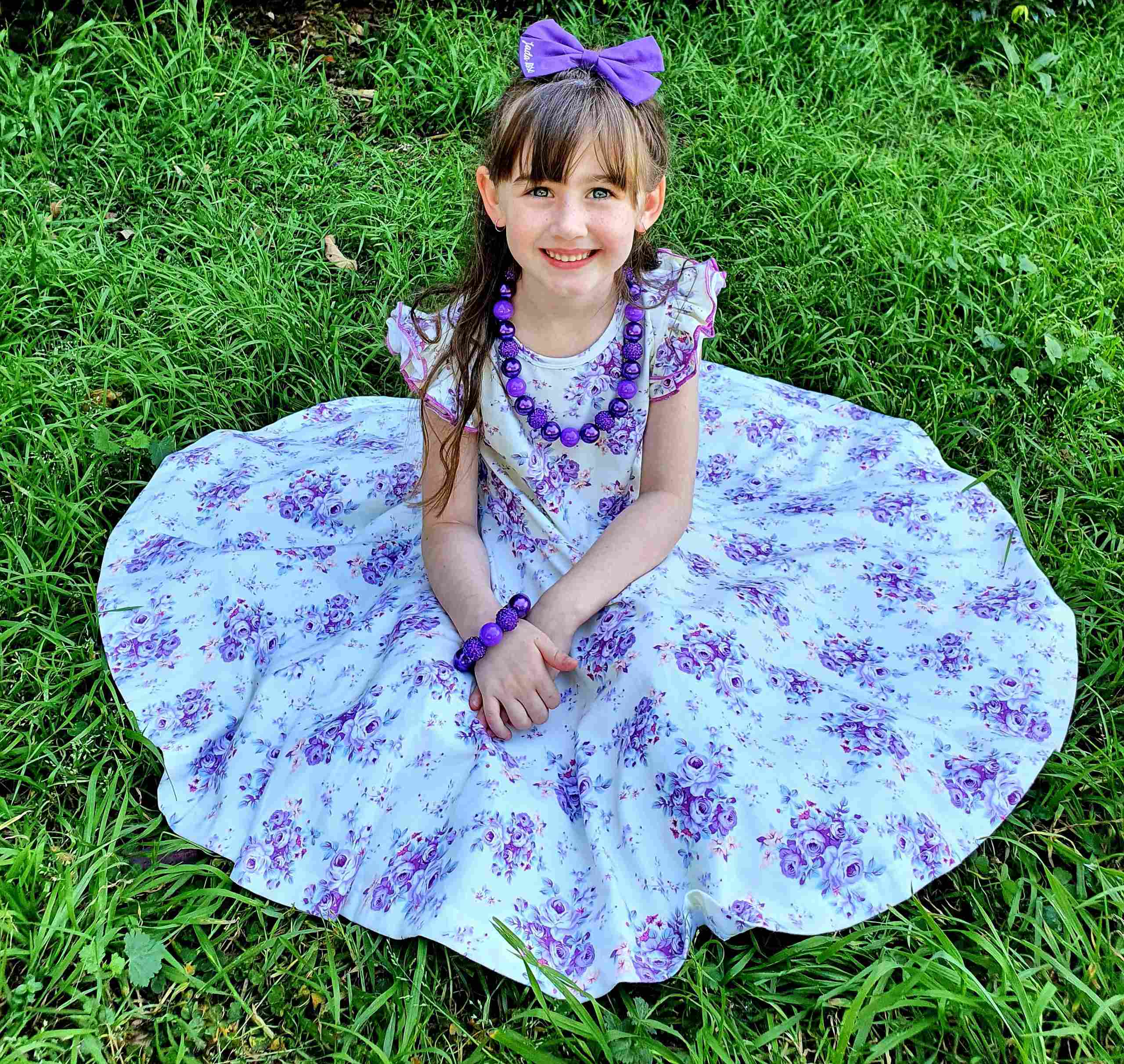 Cute girl wearing twirly dress