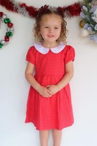 Cute girl christmas dress