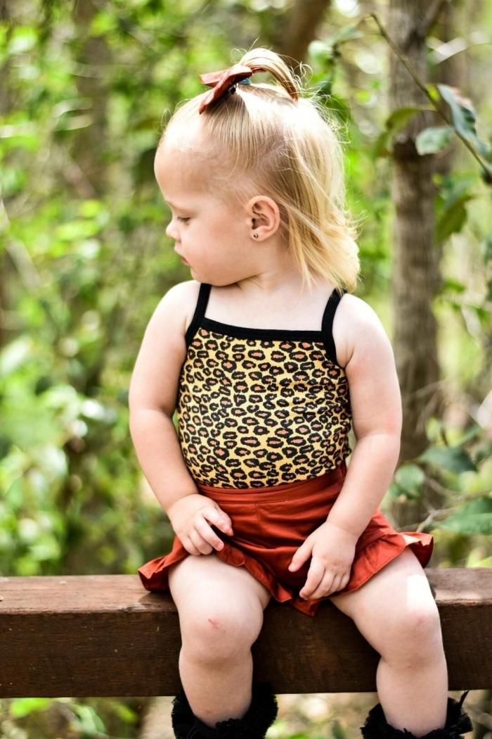 Brown leopard singlet