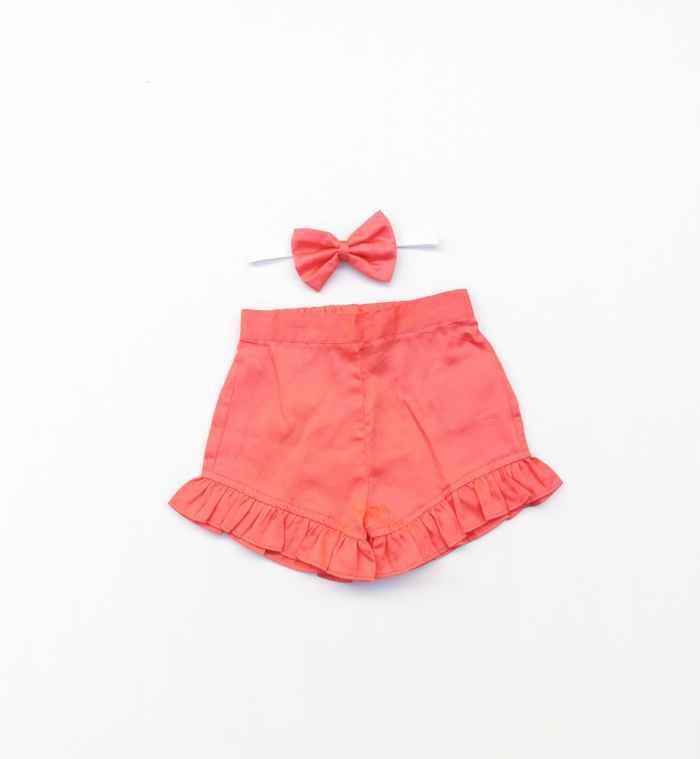 Coral frill shorts
