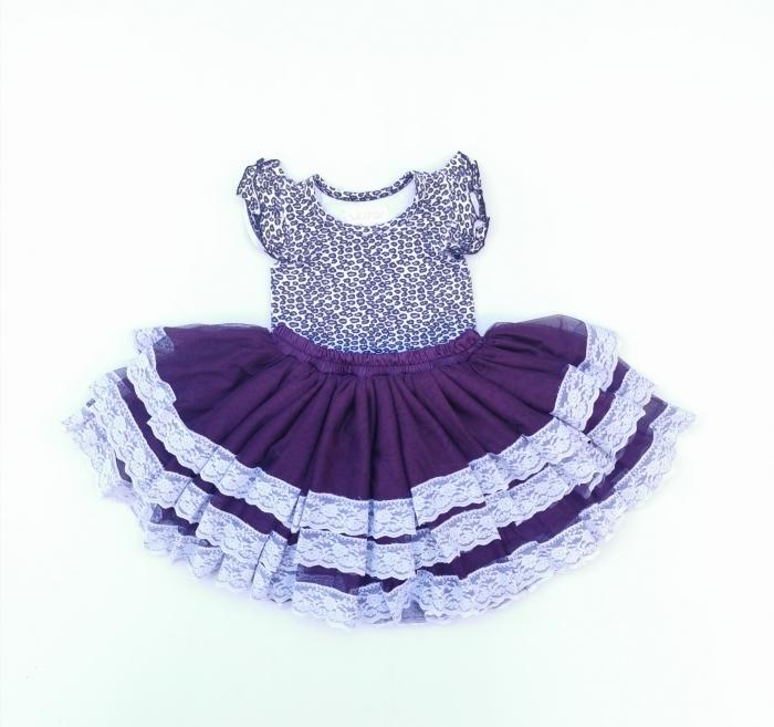 Plum tutu skirt