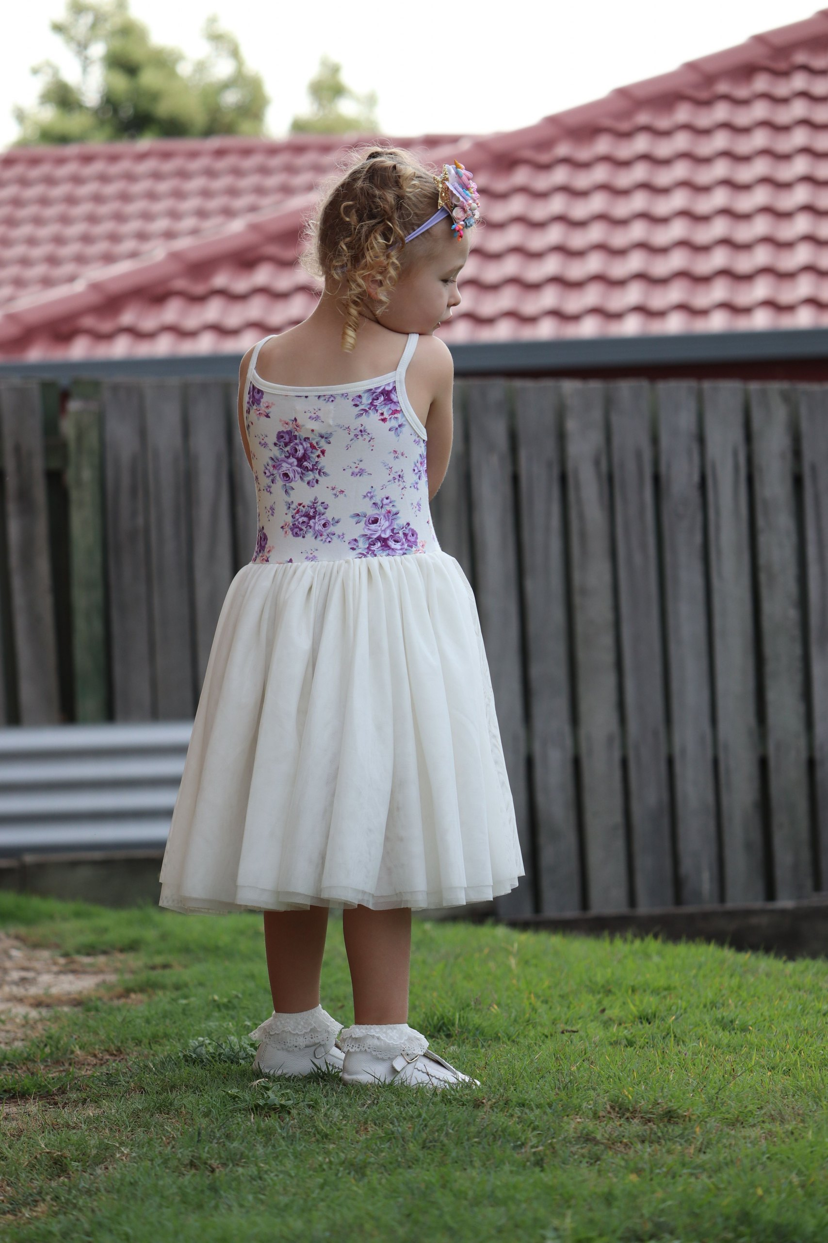 Cute girl in tutu dress