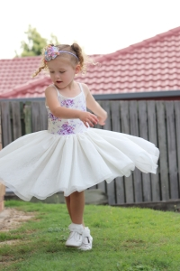 Gorgeous girl in tutu dress