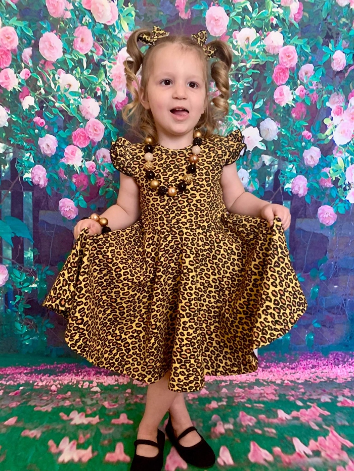 Leopard twirly dress