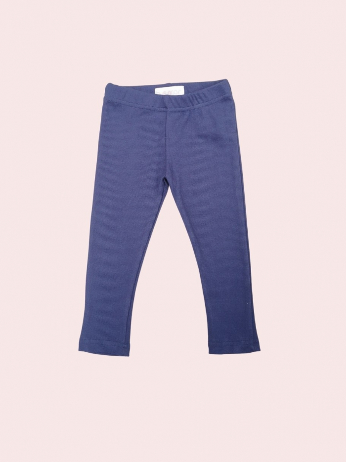 Ocean blue ribbed leggings