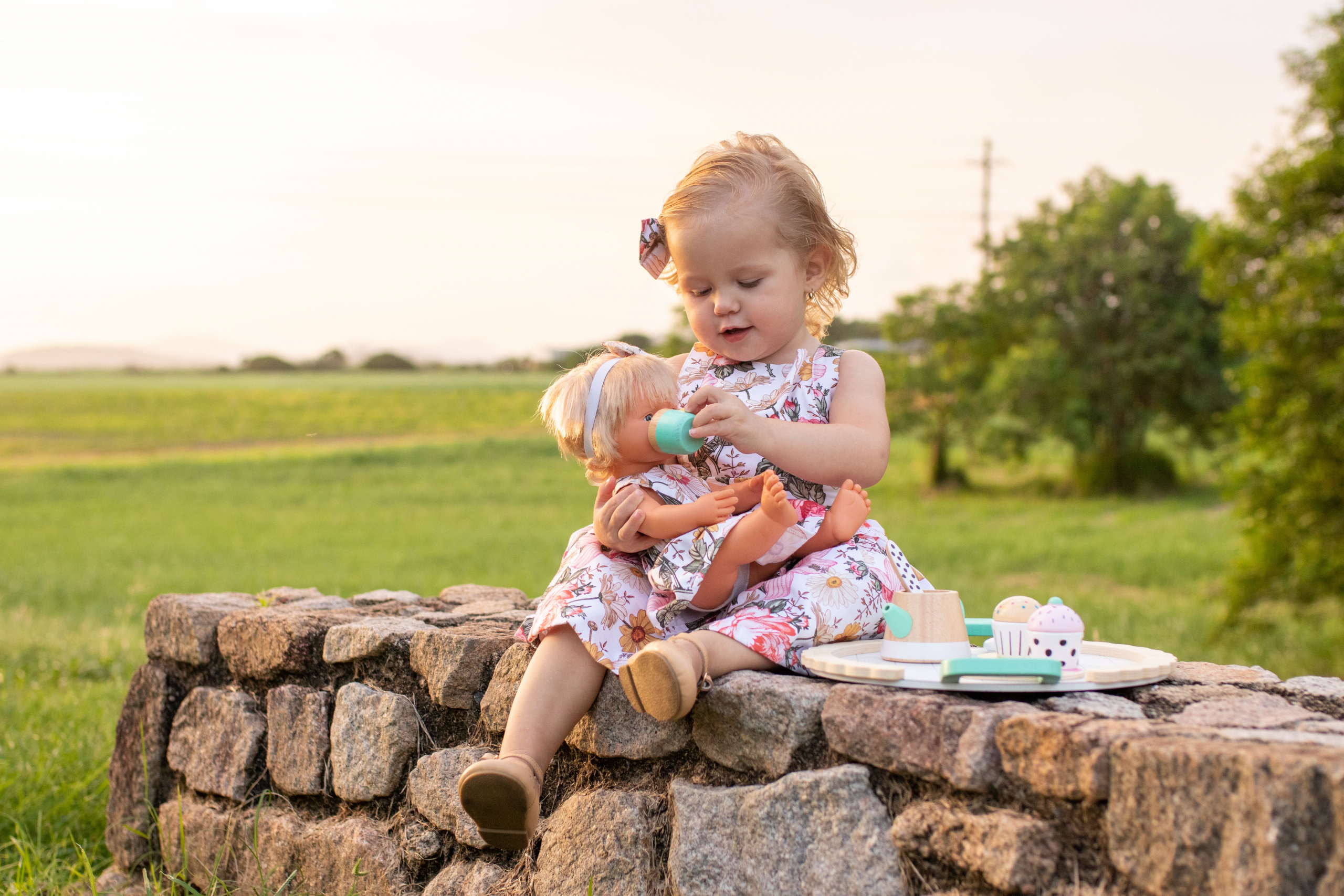 Cute girl with her dolly
