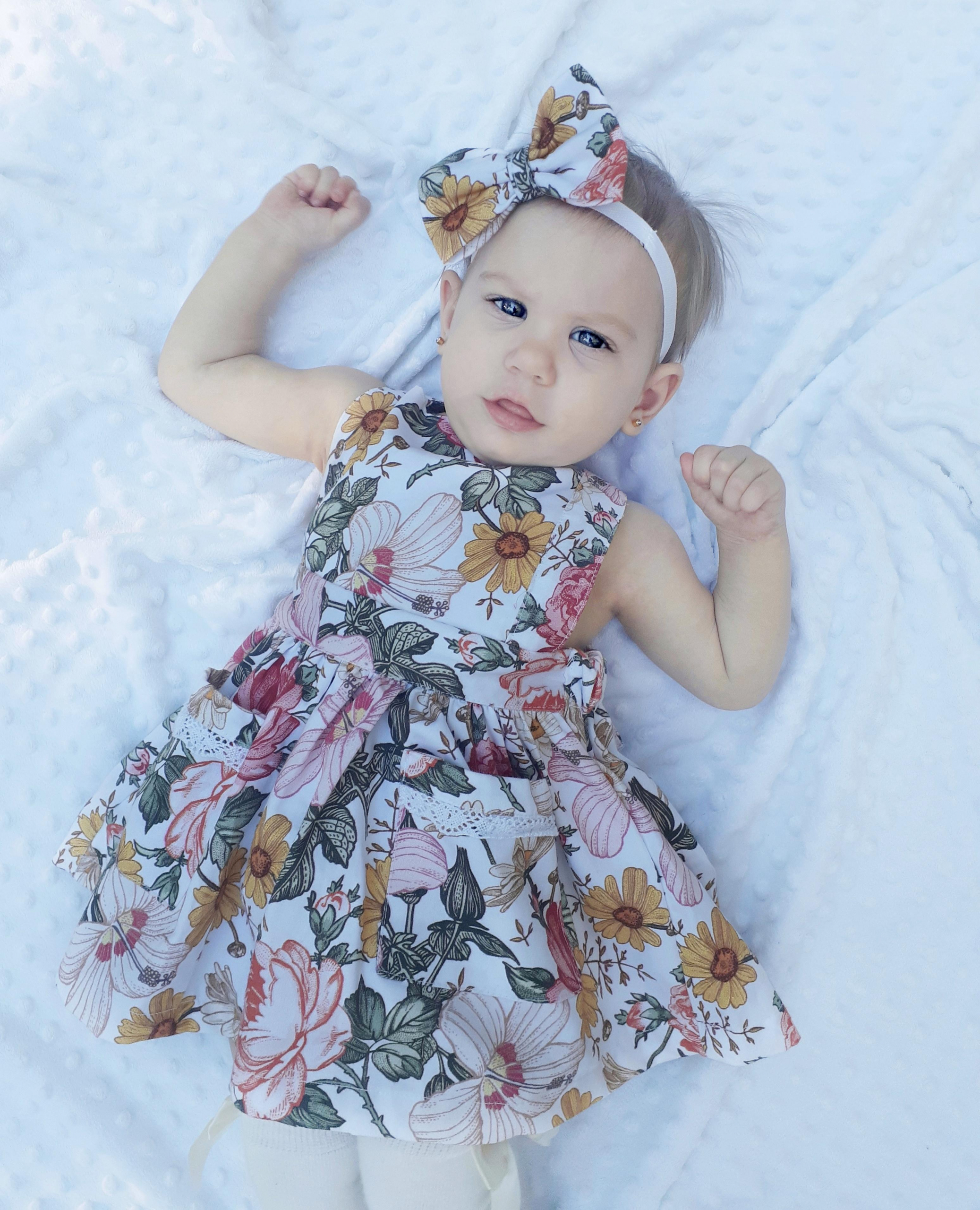 Gorgeous girl in pinafore