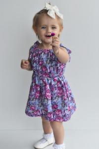 Cute girl in stunning dress