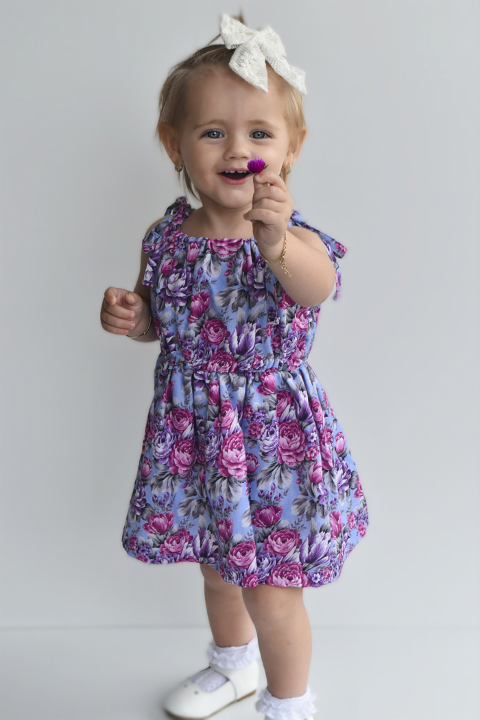 Makayla tie up dress for girls 3