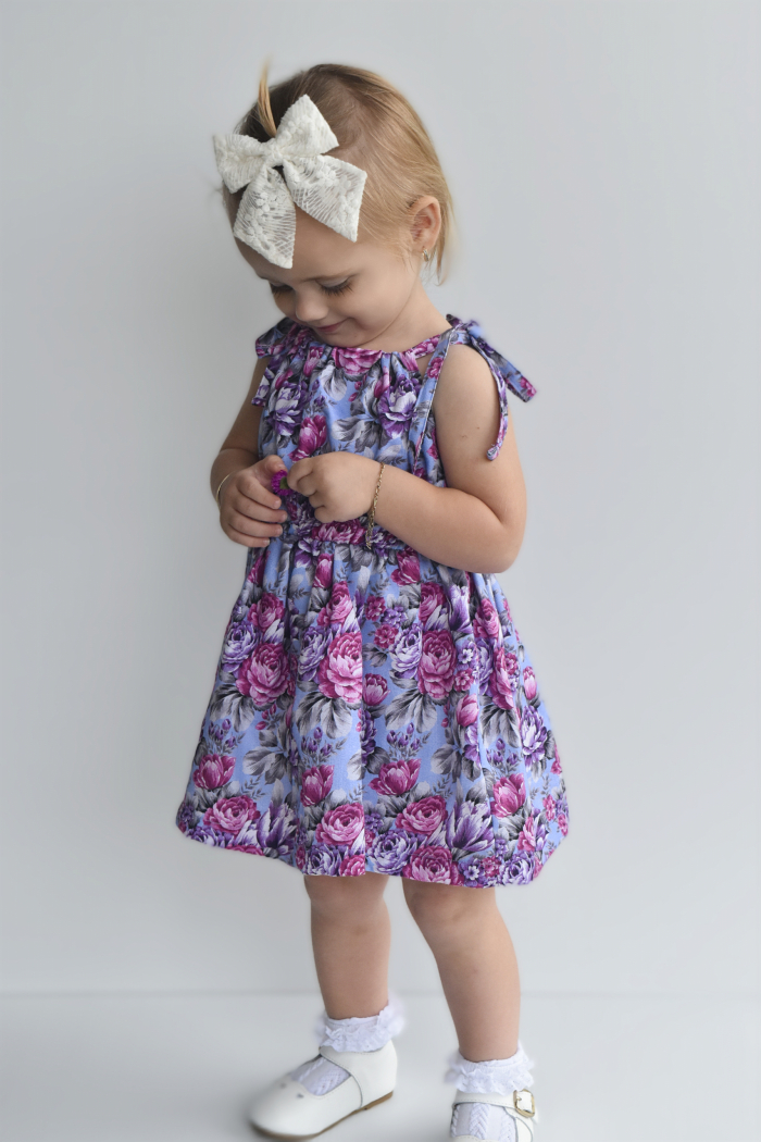 Makayla tie up dress for girls 4