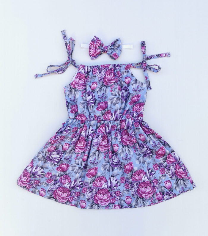 Makayla tie up dress for girls