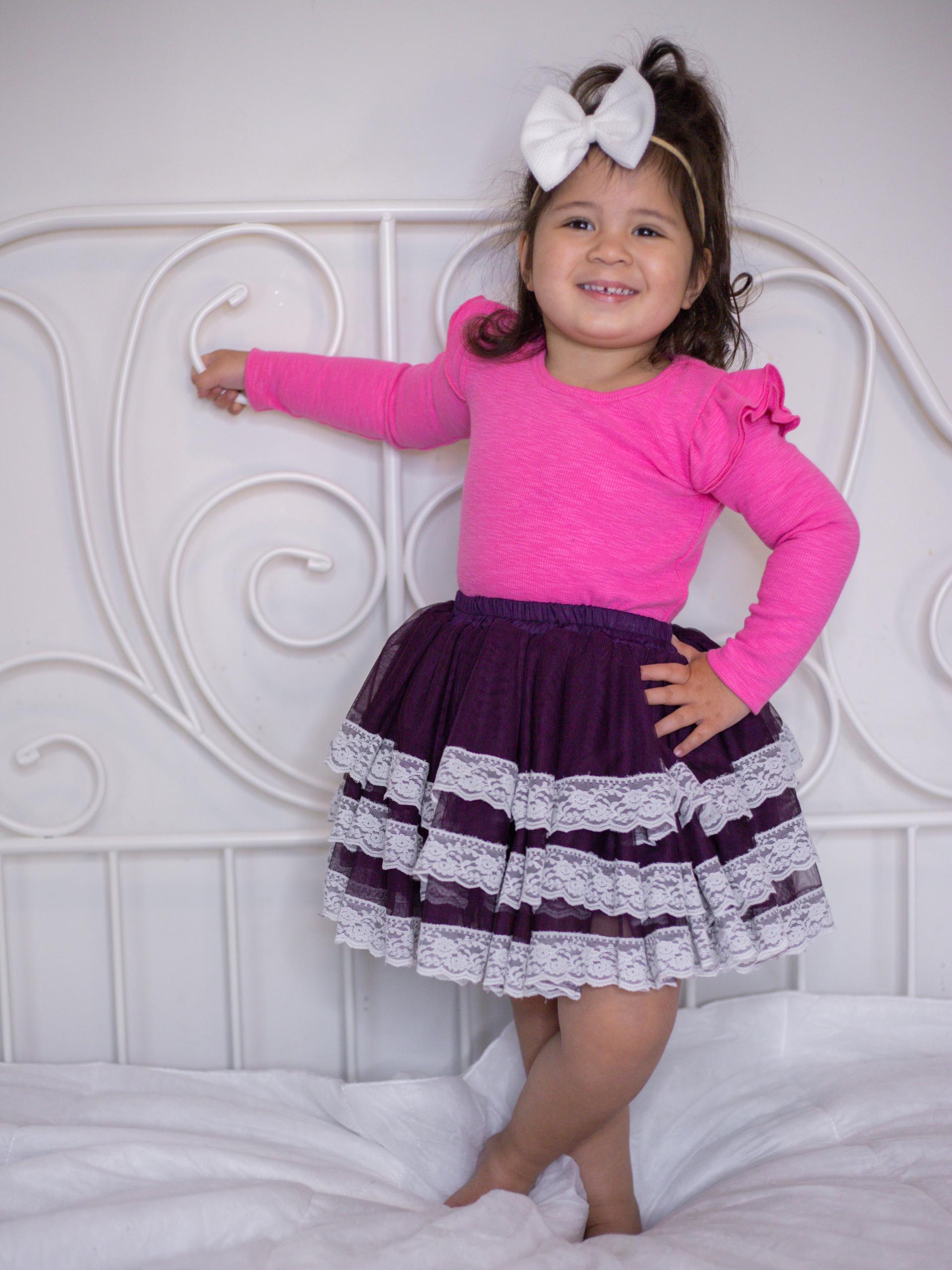 Cute girl in cute outfit