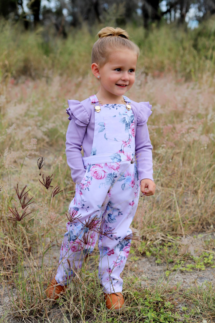 Haper overalls with lilac
