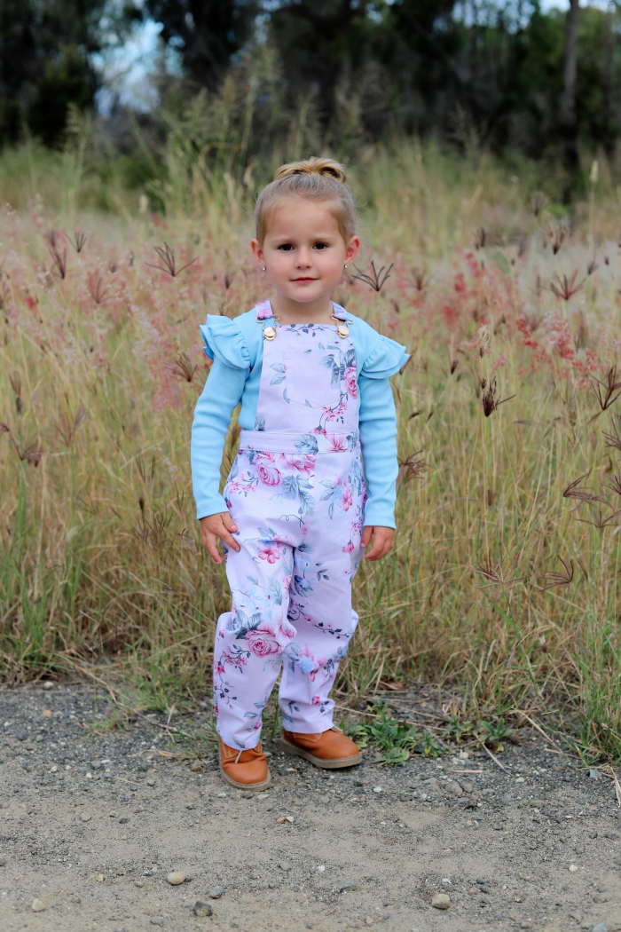 Harper overalls with blue