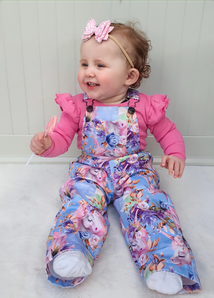 Luna overalls for baby girls 5