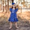 Gorgeous girl in flutter dress
