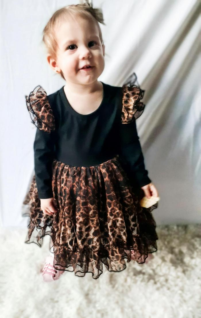 leopard tulle dress