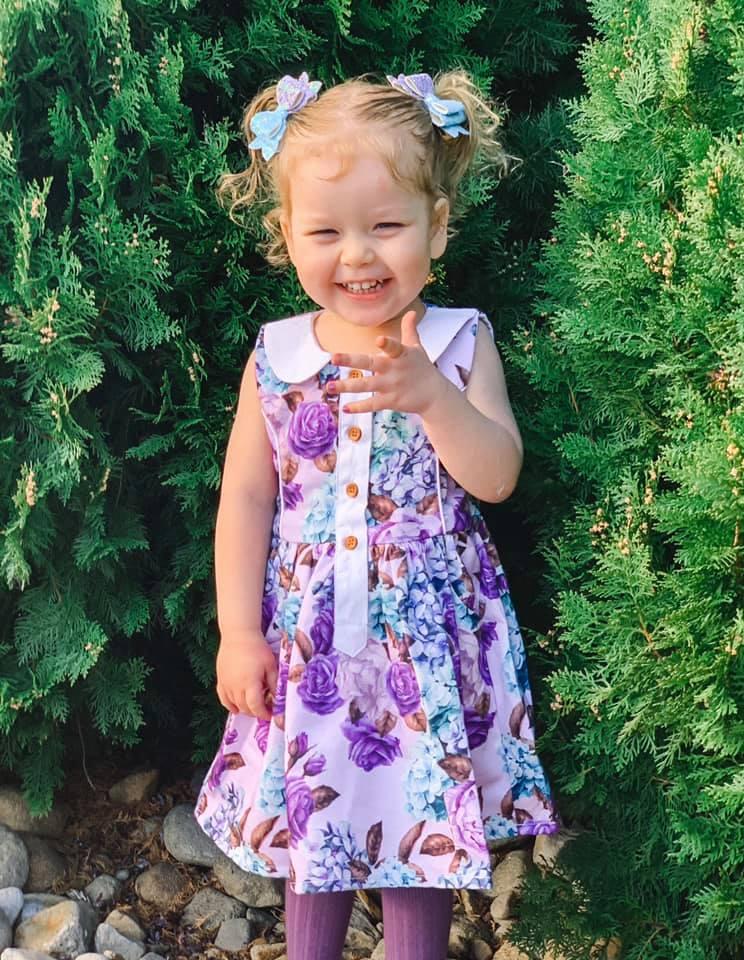 Cute girl in cute dress