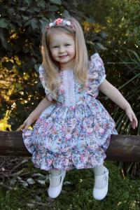 Girl wearing Ruffles dress