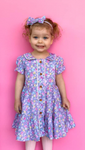Baby girl in new dress