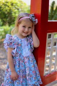 Cute girl in Ruffles dress