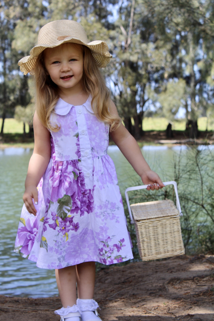 Periwinkle Placket Dress for girls 3