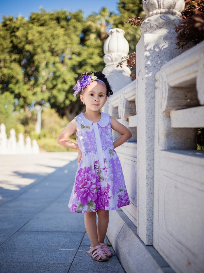 Periwinkle placket dress