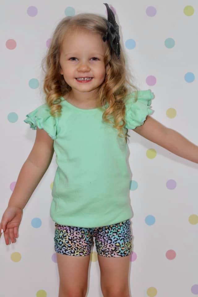 Rainbow Leopard Bike shorts for girls 4