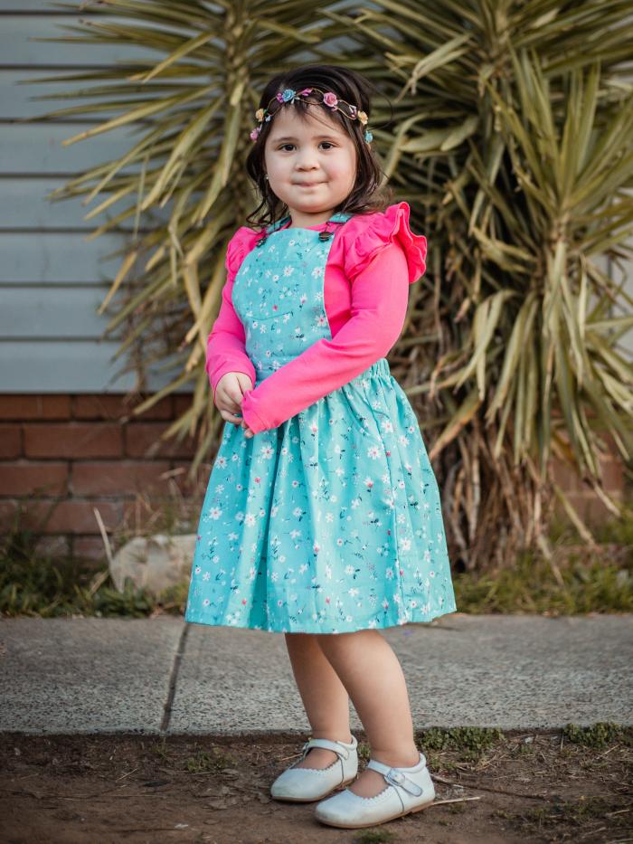 Savannah overall dress
