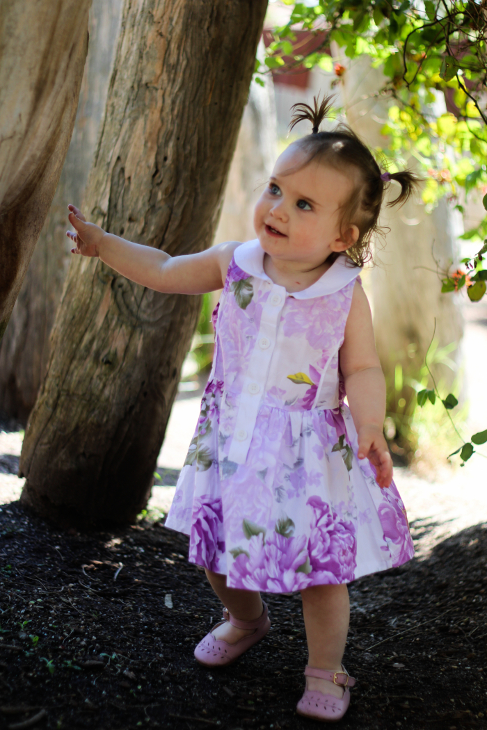 Periwinkle Placket Dress for girls 1