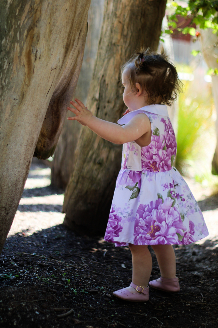 Periwinkle Placket Dress for girls